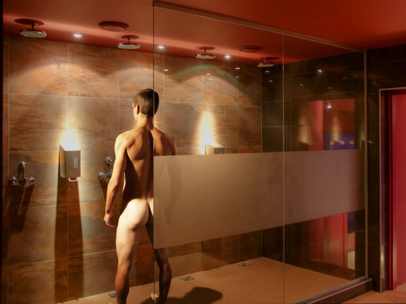 Man Naked in Hotel