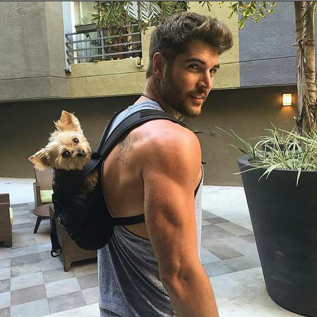Hot Man with Dog