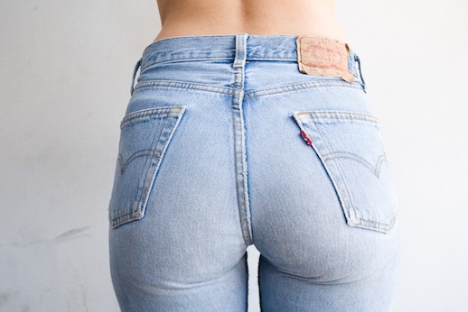 Light Blue Washed Jeans Woman