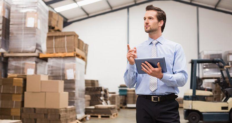 Businessman Stocktake Drop Shipper