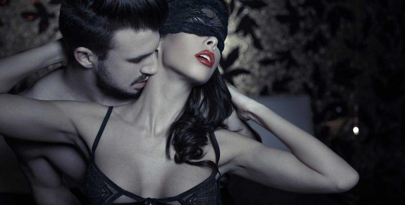 lace mask on woman