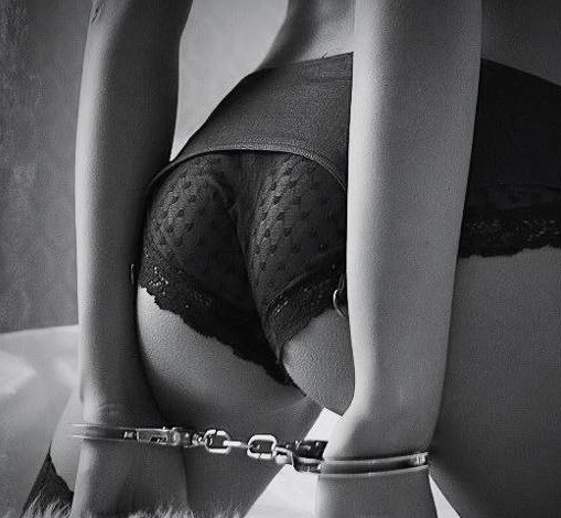 Handcuffs Lace Underwear Woman