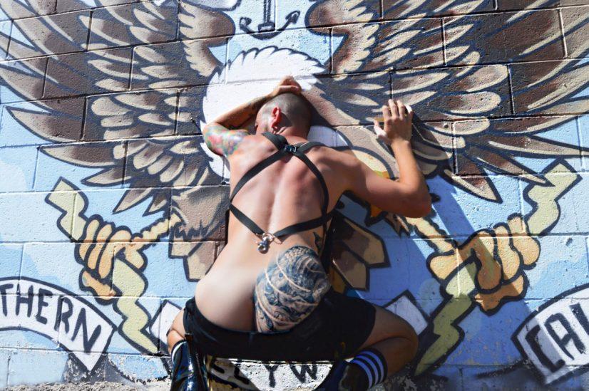 Street Art with Gay Bottom