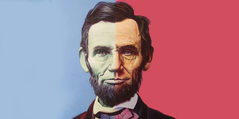 Blue Red Abraham Lincoln