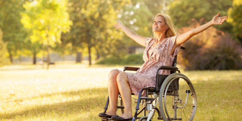 Wheelchair Woman Outside