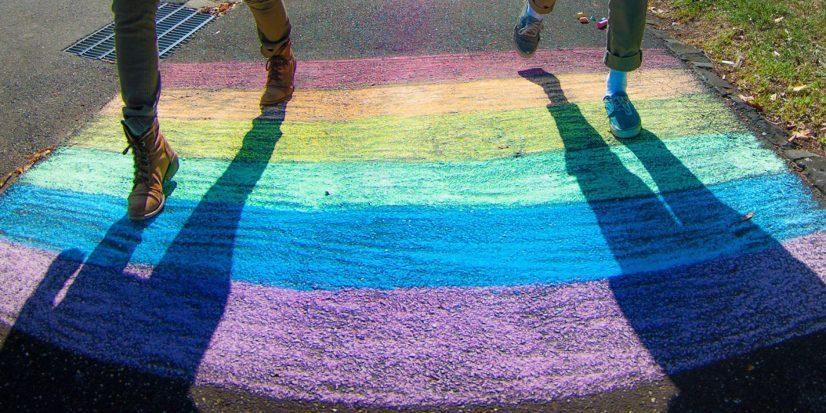 Rainbow Chalk Sydney Photo
