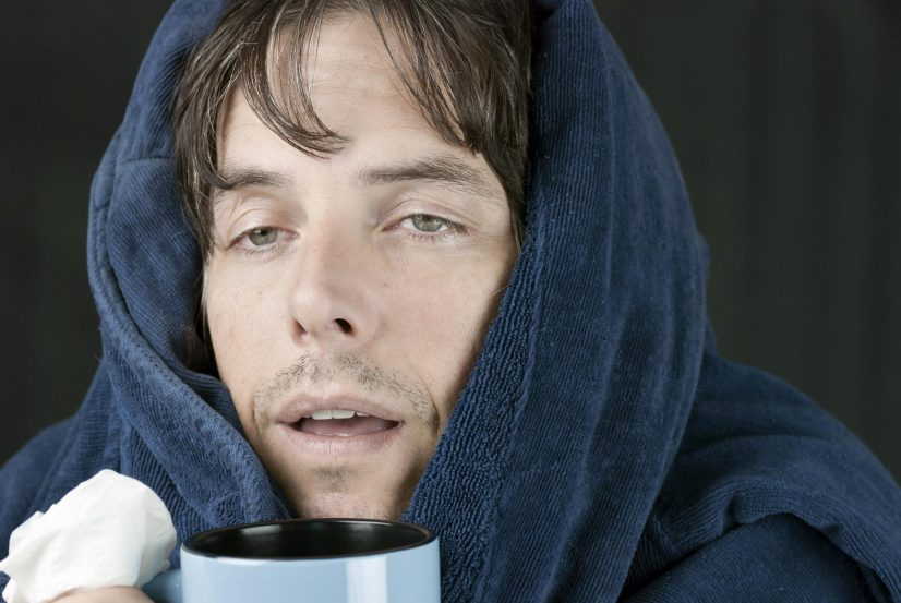 Man Sick Drinking From Mug