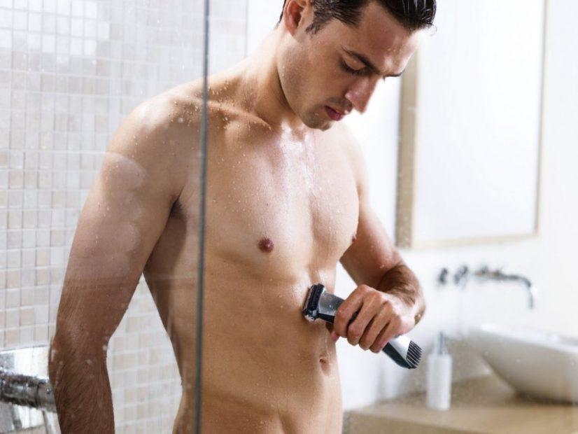 Man Shaving Abbs