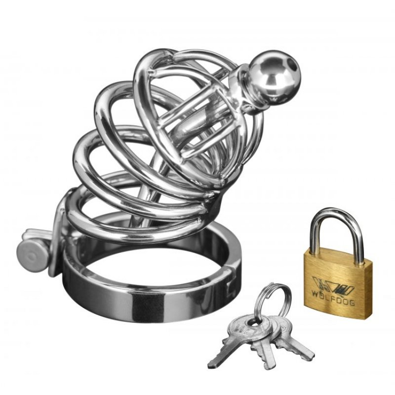 Asylum 4 Ring Locking Chastity Cage Sex Toy Image