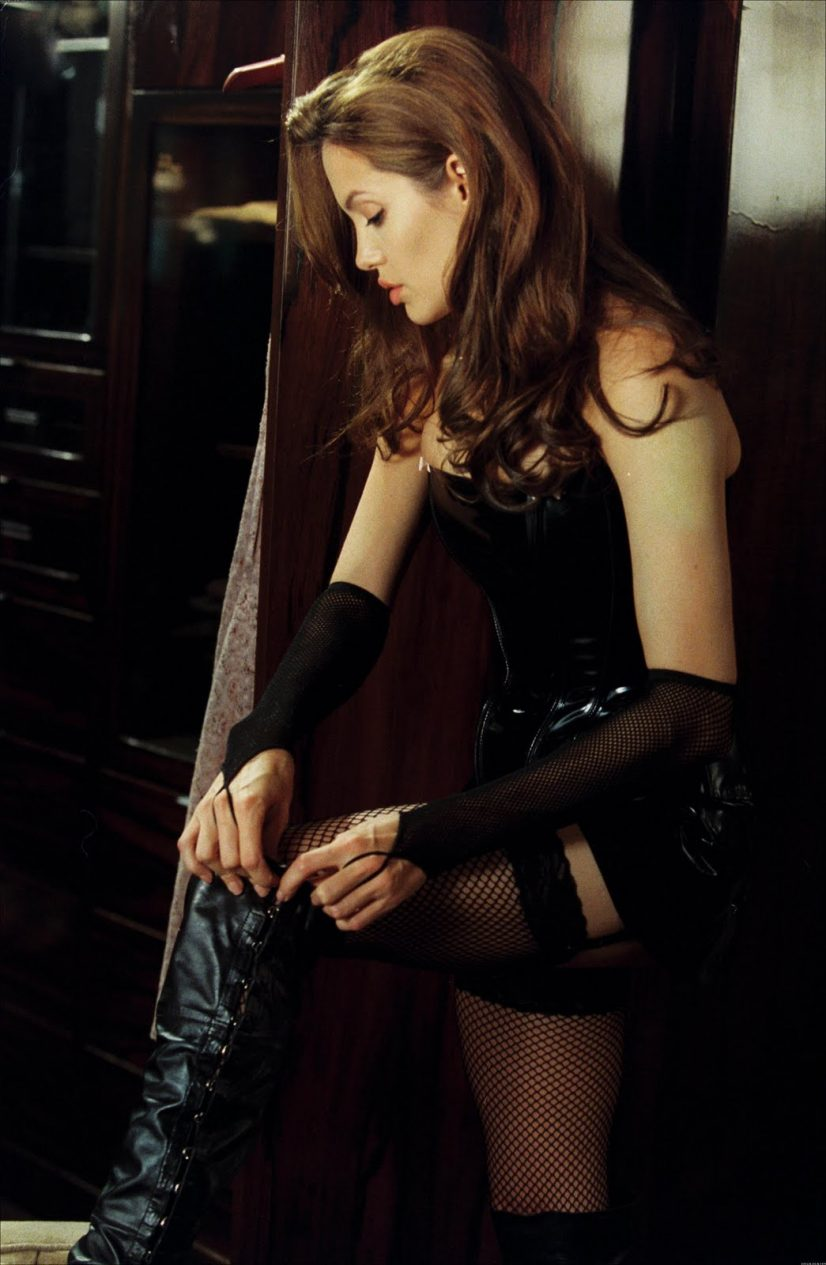 Angelina Jolie in Leather Photo