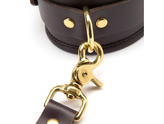 Coco de Mer Brown Leather Ankle Cuffs