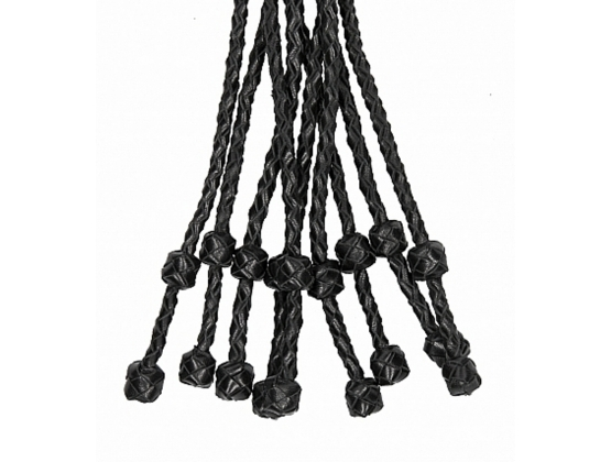 Pain Short Leather Braided Flogger