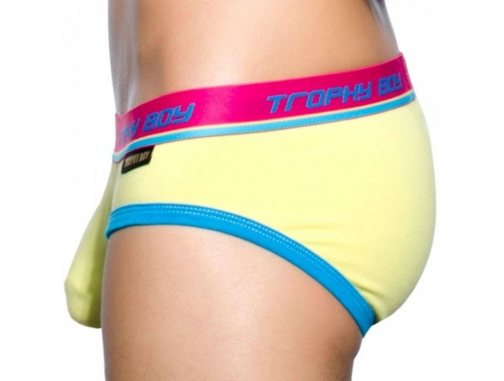 Trophy Boy Brief Bright Yellow - S
