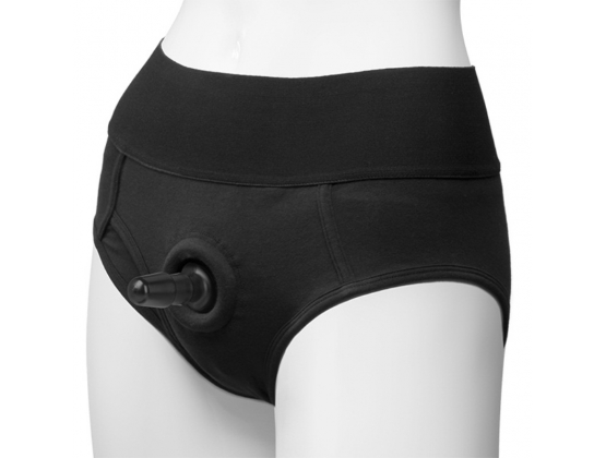 Vac-U-Lock Panty Harness Plug Briefs S/M Black