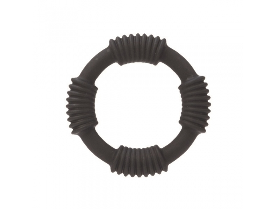 Hercules Silicone Cock Ring Black