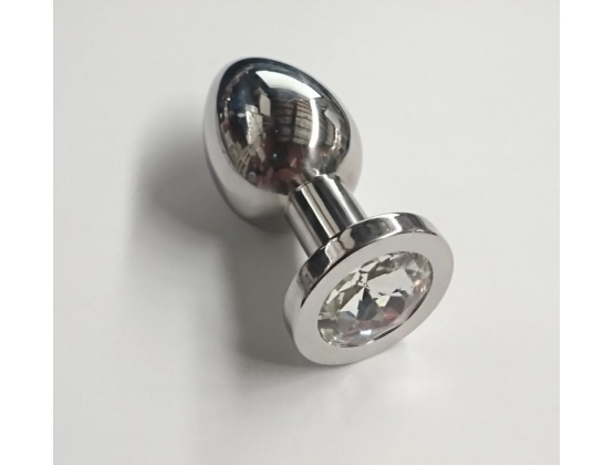 Bedazzled Steel Butt Plug Small