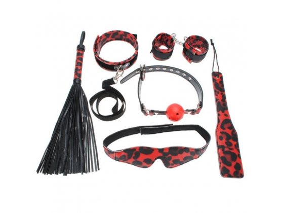 Aphrodisia Red Leopard Mistress Bondage Kit Red