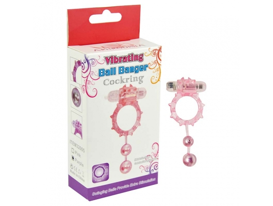 Aphrodisia Vibrating 2 Ball Banger Cock Ring