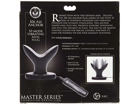 Ass Anchor Remote Control Vibrating Anal Plug