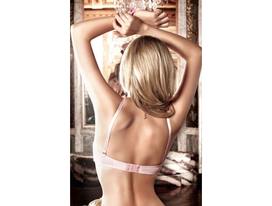 Baci Embroidered Strapless Convertible Bra Pink