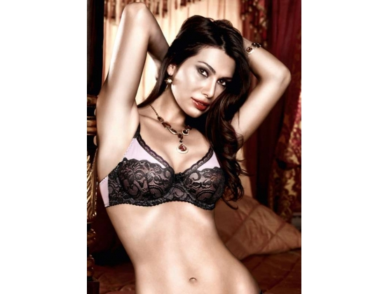 Baci Pink and Lace Bra with Underwire