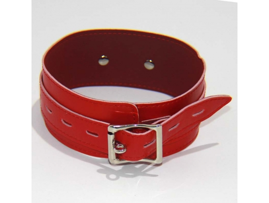 BDStyle Collar Adjustable Red Thin PVC