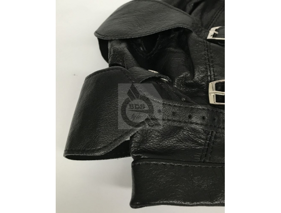 BDSM Leather Hood With Gag & Blindfold