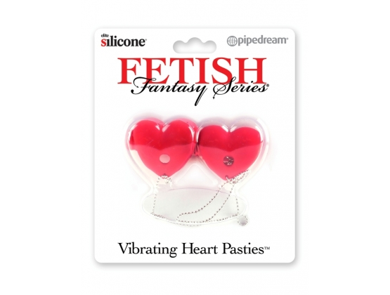 FFS Vibrating Heart Pasties Red