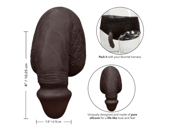 Packer Gear Silicone Penis Black