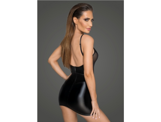 Powerwetlook Minidress with Tulle Inserts