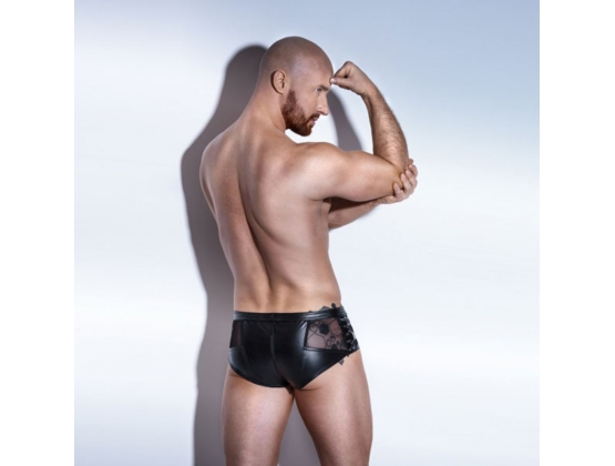POWERWETLOOK Shorts with Tulle and Eco Leather Lacing