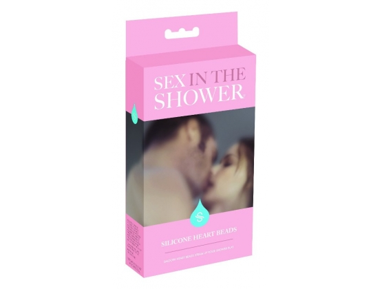 Sex in the Shower Silicone Heart Beads