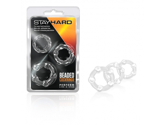 Stay Hard Beaded Cock Ring