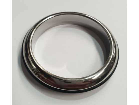 Burn the Rubber Steel Cock Ring 40MM
