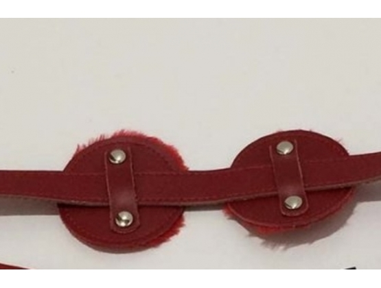 Club Lash Leather Blinkers