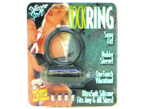 Cock Ring Silicone Soft Snug Fit 1 Touch Vibration
