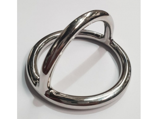 Steel Cock Ring and Ball Stretcher