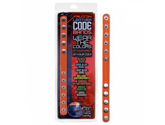 Falcon Leather Code Bands Orange