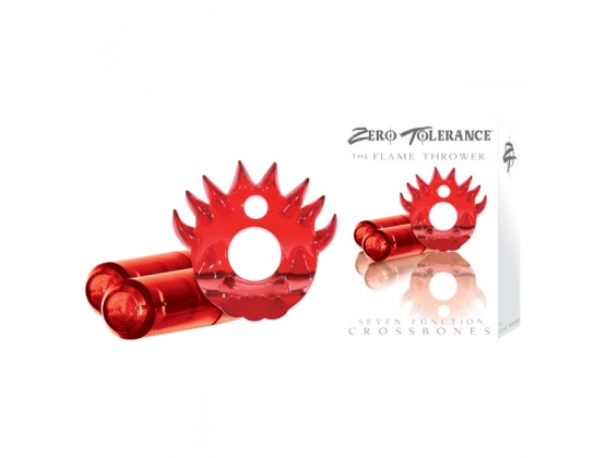 Crossbones Flame Thrower Double Bullet in Red