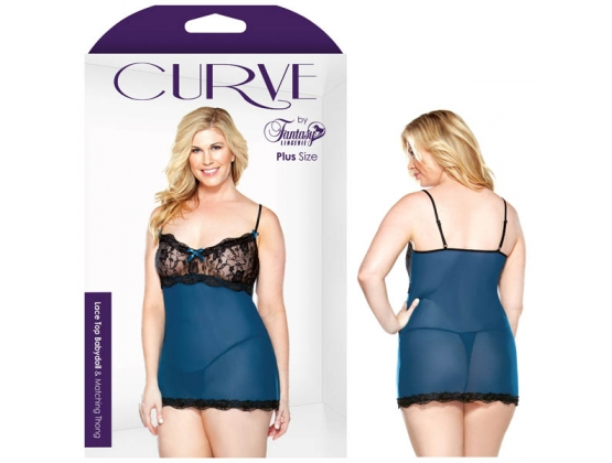 Curve Lace Top Babydoll & Thons