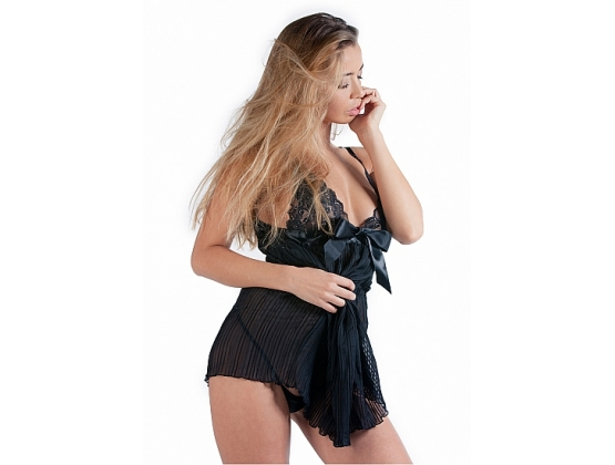 De Namour Babydoll With Classy Ribbon And G-String