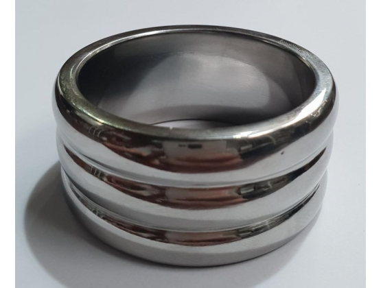 Deep Grooved Steel Cock Ring