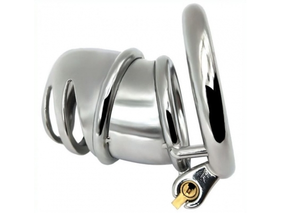 Snub Nose Stainless Steel Chastity Cage