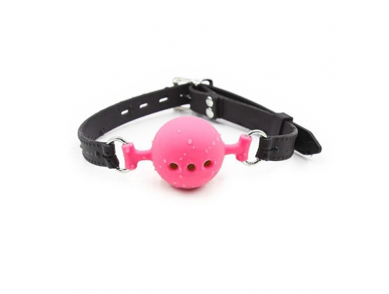 Full Silicone Breathable Ball Gag - Hot Pink
