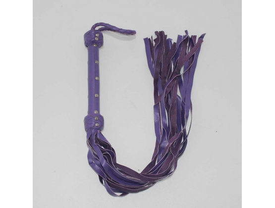 Whiplash Leather Flogger with Handle