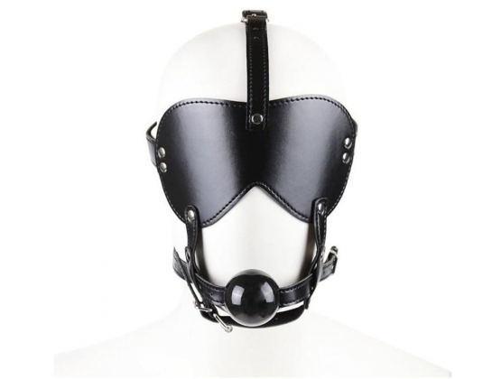 Head Harness Blindfold & Ball Gag Light