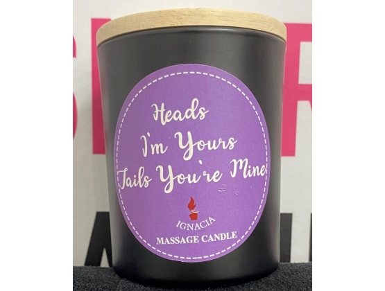 Heads I'm Yours, Tails You're Mine Massage Candle 150g