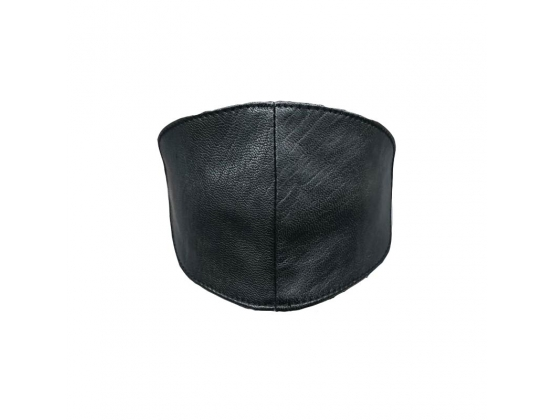Hell's Couture Sphere Wide Leather Blindfold