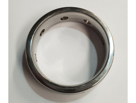 Hot & Cold Metal Cock Ring 15mm