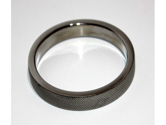 Knurled Surface Steel Cock Ring 10mm